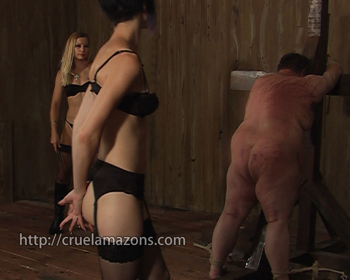 Tight anal caning